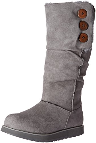 Skechers Women's Keepsakes-Big Button Slouch Tall Winter Boot Charcoal wKcGdmgmU