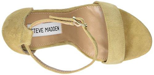 Para Carrson Mujer Sandalias sand Cuña Con Steve Madden Beige Xq7155