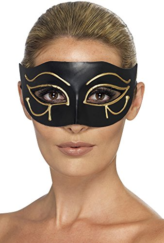Smiffys 44278-Egyptian Eye of Horus Eye-mask Black & Gold, One Size]()