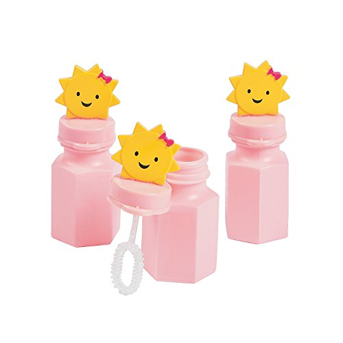 12 ''You Are My Sunshine'' 3'' Bubble Bottles (1 Dozen) by CusCus