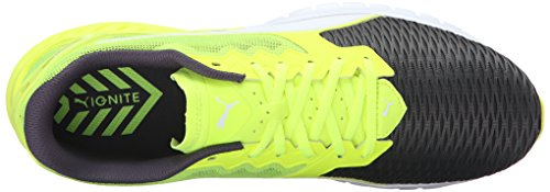Puma Hombres Ignite Dual Running Zapatos Safety Yellow / Asphalt