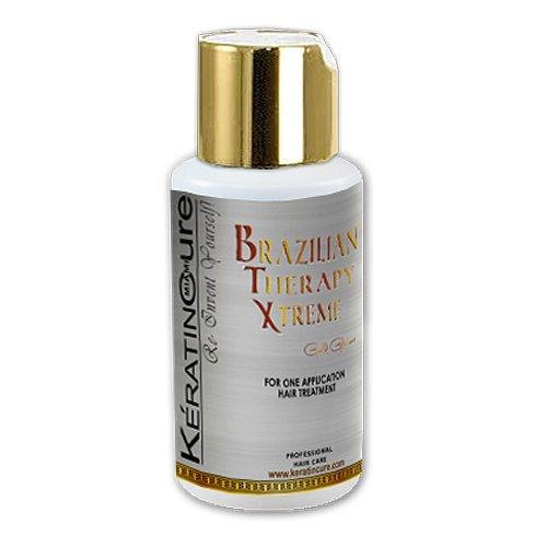 Keratin Cure Brazilian Therapy Xtreme BTX BOTOXFORHAIR Complex Capliar Miracle Protein Keratin Treatment Enhanced Formula Blonde Thin Fragile Hair Straighten Smooths Moisturizer 60ml/ 2 fl oz