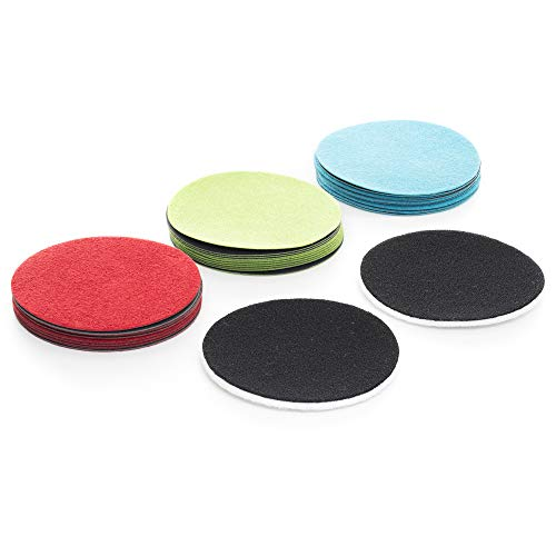 GP41011 Resupply kit for DIY GP-WIZ Glass Scratch Repair kit / 3 inch / Sanding discs plus polishing ()