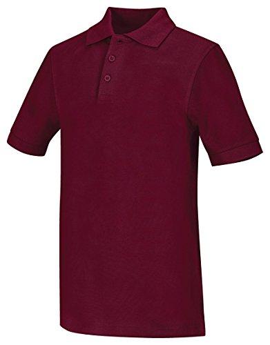 Sleeve Youth Pique Polo - Youth Unisex Short Sleeve Pique Polo (Wine;Medium)
