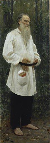 Spiffing Prints Ilya Repin - Leo Tolstoy Barefoot - Large -