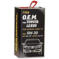 MANNOL Fully Synthetic Engine Oil 5W-30 4L for Toyota/Lexus (10,000 Km)