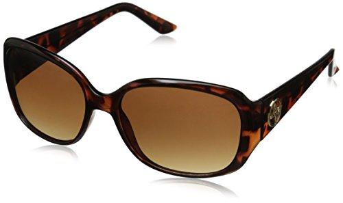 Adrienne Vittadini Women's AV1016 Square Sunglasses, Tortoise, 56 - Sunglasses Vittadini Adrienne