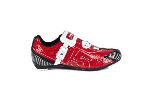 Spiuk 15 Road - Zapatilla de ciclismo unisex, color rojo / blanco, talla 49 Rojo / Blanco