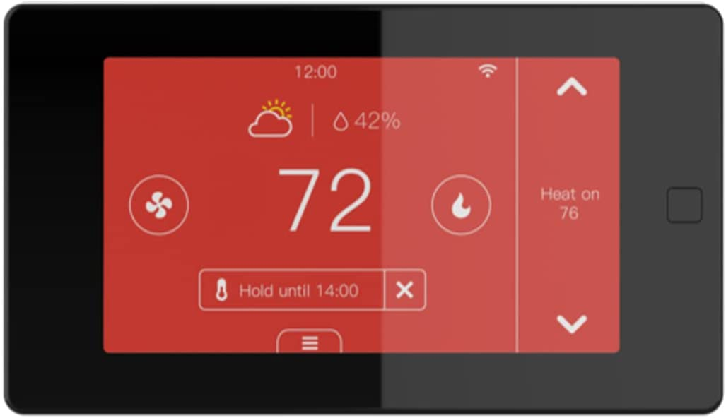 Ubipol Smart WiFi 7 Day/4 Periods Programmable Touchscreen Home Thermostat, Compatible with Alexa and Google Assistant