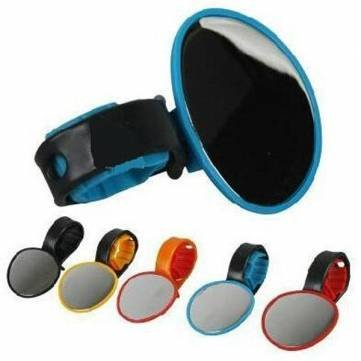 Pakhuis Bicycle Rearview Flexible Mirror Cycling Handlebar Glass 5 color - Blue