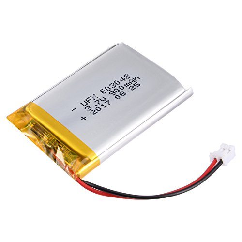 uxcell Power Supply DC 3.7V 900mAh 2P PH 2.0mm Pitch Li-ion Rechargeable Lithium Polymer Li-Po Battery