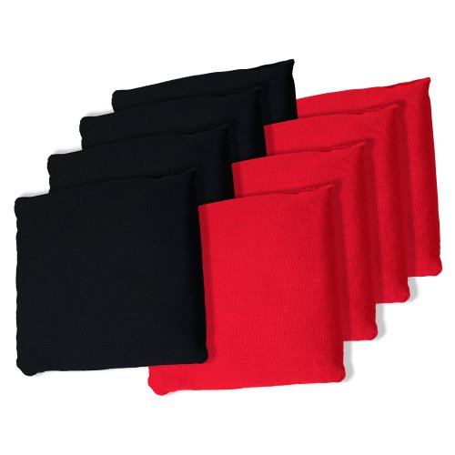 red and black corn hole bags - 5
