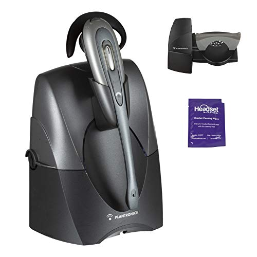 Plantronics CS55 Wireless Office Headset Included Bundle with Lifter and Headset Advisor Wipe (Renewed) ()