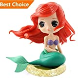 Personalized Big Eyes Mermaid Birthday Cake Toppers, Cute cupcake Topper for Wedding Birthday Party Decoration(Gloden)