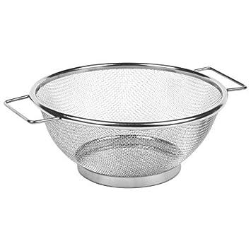MGE - Escurridor - Colador de Cocina con Asas y Pie - Malla ...
