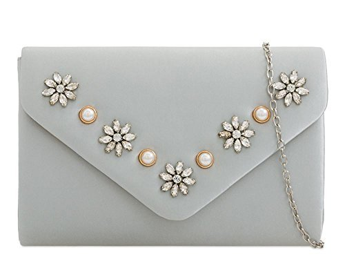 Clutch Haute Diamante Silver Diamante Haute For Clutch Bag Ladies Diva Ladies Navy For Diva zrwpzvx