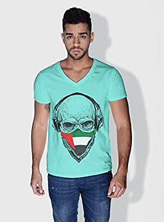Creo Uae Skull T-Shirts For Men - Xl, Green