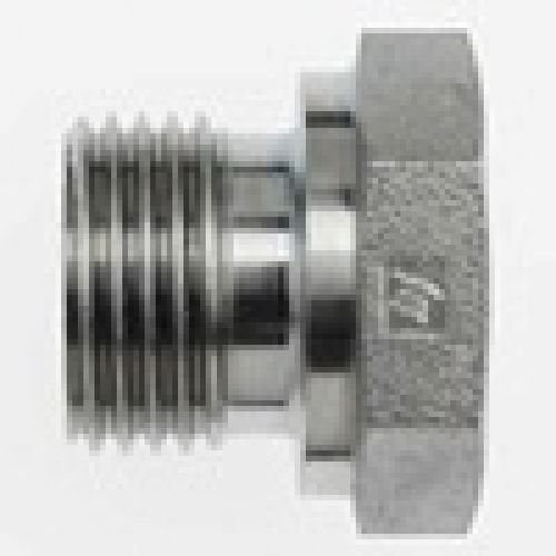 3//4-14 Male BSPP x 1-11 Female BSPP Brennan Industries 9023-12-16 Steel Straight Conversion Adapter Fitting
