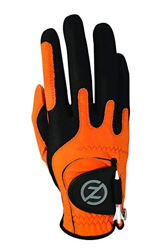 Zero Friction Men's Golf Gloves, Right Hand, One Size, Orange ()