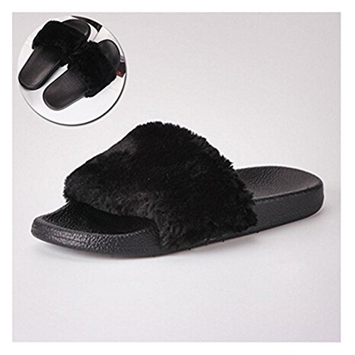 Chaussures Sandales Plates De Lalang Noir Femme Plage Tongs Claquettes Mules WqHxaXA