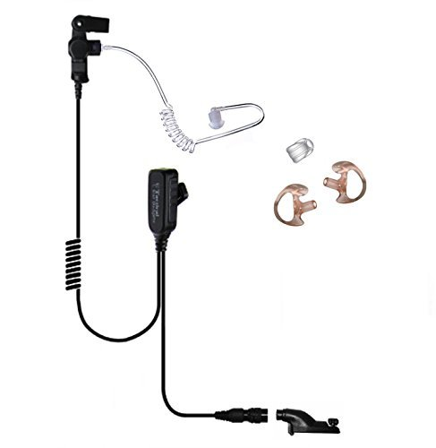 Ear Phone Connection EP1334QR Tactical Police Lapel Headset Mic for Motorola APX6000 APX7000 XPR6550 XPR6300 XPR6350 XPR6580 and more by The Ear Phone Connection