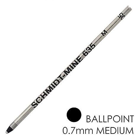 Mini Refill SCHMIDT Confezione da 5 Ricariche per Mini Penna a Sfera - Punta Media - (Verde)