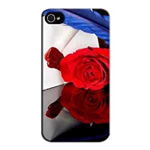?love Letter? Black TPU Protective Hard Case For Iphone 4