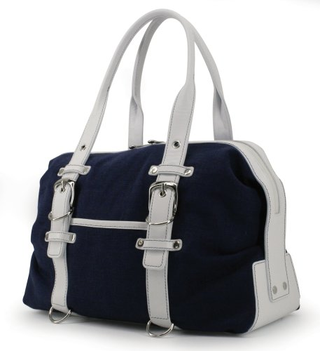 Tool Bag Linen (Navy/White) by Crescent Moon