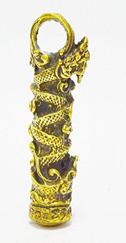 (San Jewelry Pendant Necklace Buddhist Magic Naga Wealth Rich Lucky Charm Thai Amulet Pendant)