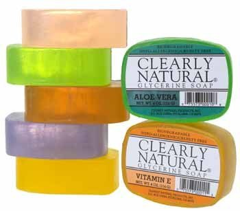 Clearly Natural - Pure and Natural Soap with Essential Oils and Vegetable Glycerine, Lemon - 4 oz Bar (3 Pack) (Vegetable Oil Soap)