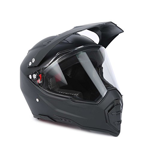 Anweer Full Face Motorcycle Helmet DOT Approved, Motocross ATV Helmet, Motorbike Off Road Dirt Bike Safety Helmet for Adult Men Women - Black, (Focus Off Road Helmet)