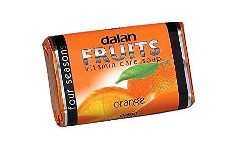 Dalan frutas vitamina cuidado jabón naranja 6 unidades 6 x 75g: Amazon.es: Belleza