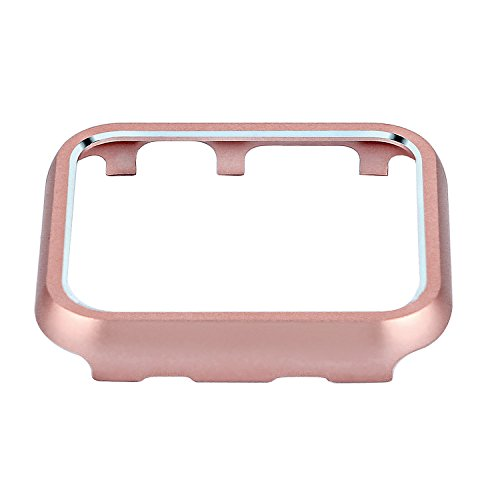 Clatune Aluminum Alloy Bumper Case Protective Metal Frame Cover Shell Compatible with 38mm Apple Watch Series 3/2/1 - Rose Gold