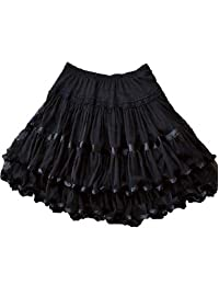 Yummy Bee Womens Skirt Layered Frilly Rockabilly Long Swing Skater Plus Size 2 - 24