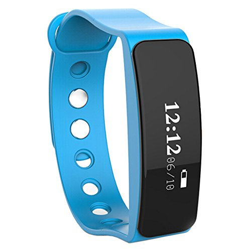 TOLEDA Fitness Tracker, W05 Activity Wristband-Bluetooth Wireless Smart Bracelet, Waterproof Pedometer Activity Tracker Watch for IOS & Android Smartphone by Chige (Blue)