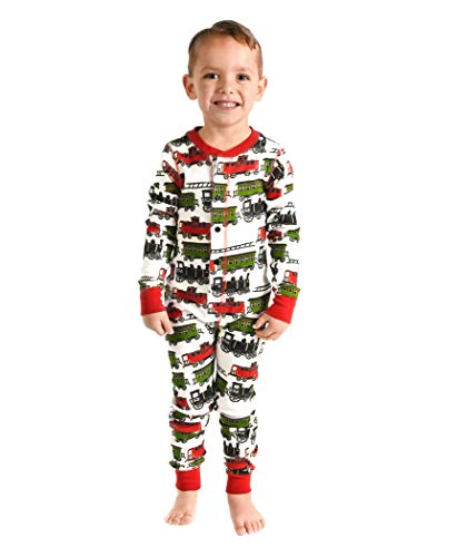 Trains Kids Flapjack Onsie Pajamas by LazyOne | Adult Kid Infant Dog Family Matching Pajamas (6)]()