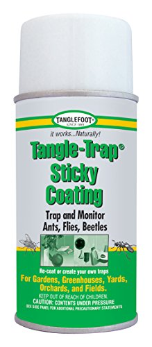 - Tanglefoot The Company 300000676 018441950112 Tangle-Trap Sticky Coating Aerosol, 10 OZ, White