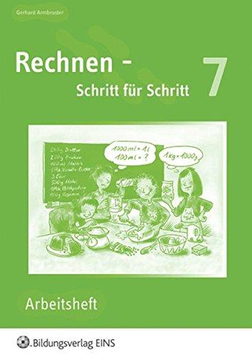 Read Online Rechnen, Schritt für Schritt, EURO, Bd.7 PDF