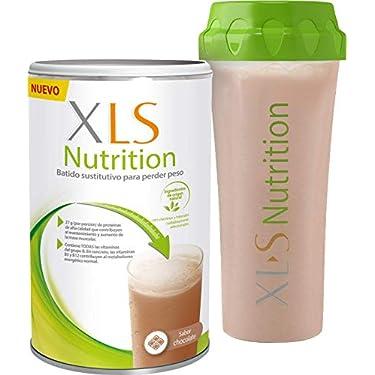 XLS-Medical-Nutrition-Chocolate-Shaker-de-regalo-Batido-sustitutivo-de-comidas-para-perder-peso-Ingredientes-de-origen-natural-contiene-todas-las-vitaminas-del-grupo-B-Sin-gluten-400-g