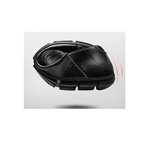 zmlsc Hommes Lerther Chaussures Porter Vêtements De Cérémonie Porter Rond Souple Pointy Ceinture Boucle Coton Fond Plat Jeunesse Black LQ0PkEpSVW