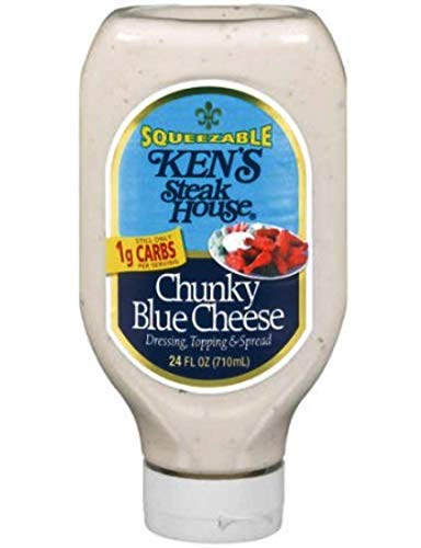 Ken's Steak House Squeezable Chunky Blue Cheese 24oz Bottle