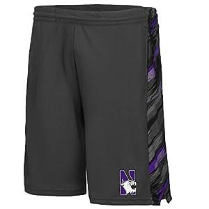 Mens NCAA Northwestern Wildcats Basketball Shorts (Charcoal) - S