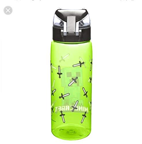 Minecraft Zak Designs 25oz Plastic Water Bottle Green/Black