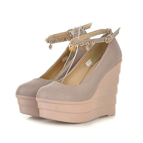 Getmorebeauty Women's Pink Wedge With Gold Tassel Dress Super Platform High heel 5 B(M) US
