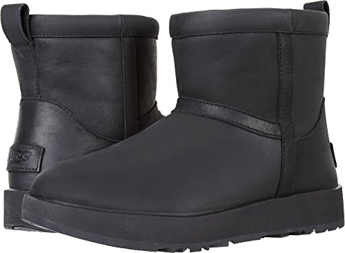 UGG Women's Classic Mini L Waterproof Black 6.5 B US