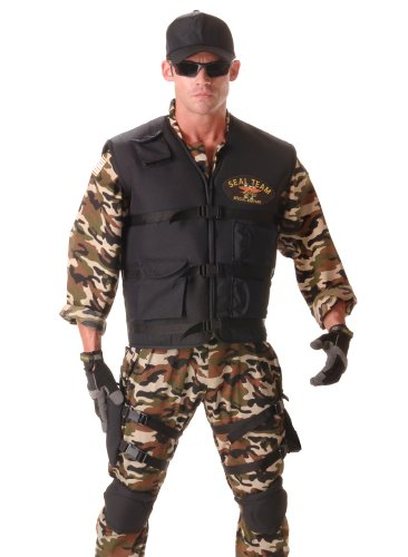 SEAL Team Deluxe Adult Costume - (Deluxe Green Army Man Costumes)