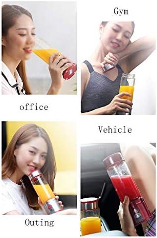 xiaokeai Centrifugeuse USB Rechargeable Blender Voyage, Accueil, Pique-Nique Blender Portable Personnel Taille Blender Coupe Jucier Extracteur Jus