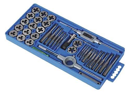 Standard SAE Tap and Die Set 40 Piece w/Case Threading Chasing Repair,Jikkolumlukka from Jikkolumlukka