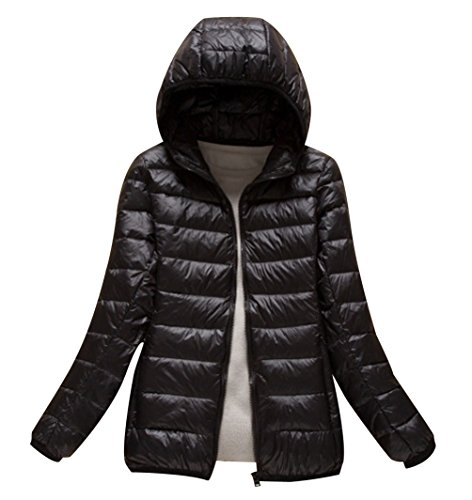 Bubble Packable Coat Coats Hood Quilted ISSHE Down Jackets Parka With Black Puffa Jacket Women's Down Lightweight Coat Puffer Hooded Overcoat Women Winter Padded Womens Ladies qwgwZPxT