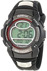 Armitron Sport Men's 408089RED Chronograph Round black and Red Digital Watch